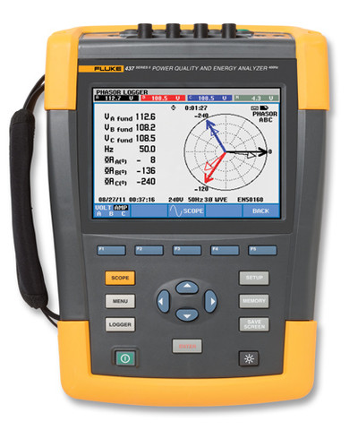 Fluke 437-II/BASIC Three-Phase Power Quality & Energy Analyzer