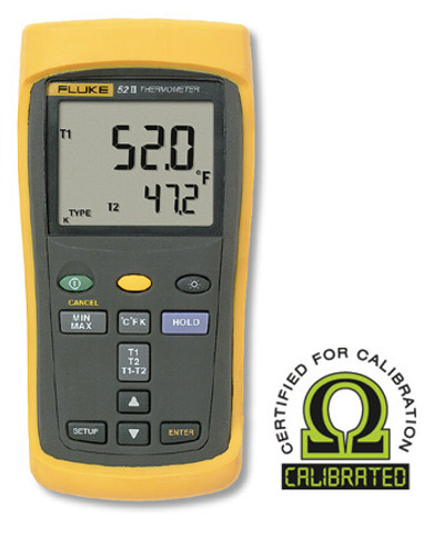 Fluke 52-2 Dual Input Digital Thermometer - Calibrated