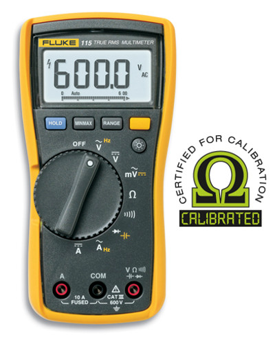 Fluke 115 True RMS Digital Multimeter - Calibrated