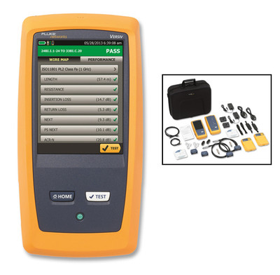 Fluke Networks DSX-5000 120 1 GHz DSX Cable Analyzer, Certifier