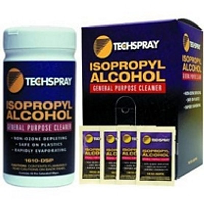 Isopropyl Alcohol Wipes, TechSpray, 100 per package