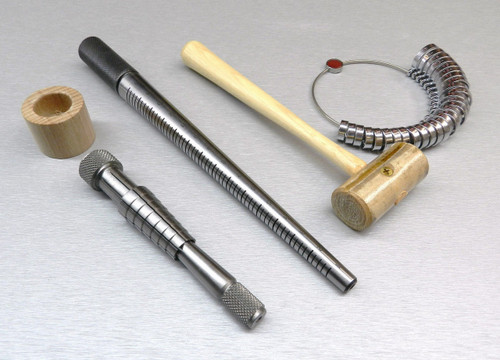 RING STRETCHER KIT-MANDREL-FINGER GAUGE MALLET RATHBURN SIZER