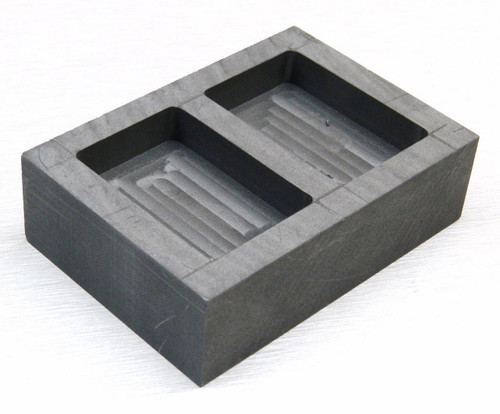 GRAPHITE INGOT MOLD 5oz GOLD BARS 2.5oz SILVER 2 CAVITY