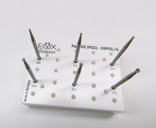 Fox Cc Fast Cut Cup Burs Fox Champion Assortment Set 6 Burs 008-018 Germany