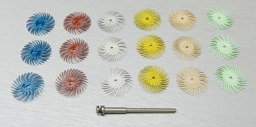 3M RADIAL BRISTLE DISC BRUSH ASSORTMENT 19 Pc. SET