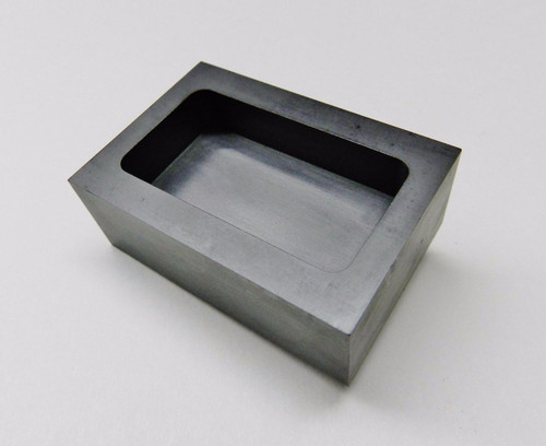 5oz GRAPHITE INGOT MOLD MACHINED for GOLD SILVER BARS MELTING REFINING SMELTING