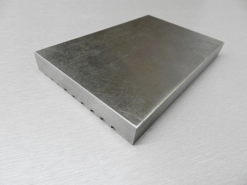 "STEEL BLOCK SWAGE GROOVED FORMING & FLAT DOUBLE SIDED ANVIL BENCH TOOL 6"" x 4"""