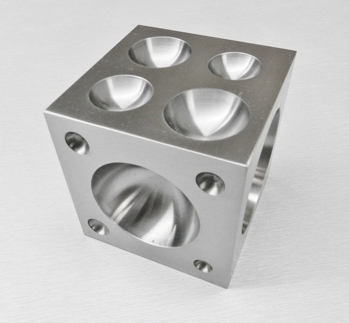 "DAPPING BLOCK STEEL DAPPING CUBE 75mm 3"" SQUARE 25 CAVITIES HALF SPHERE 4.2-60mm"