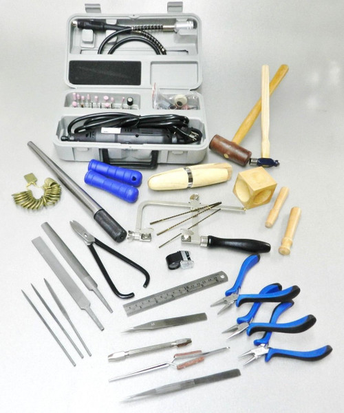 Jewelry Making Bench Tools Kit with Rotary Tool with Flexible Shaft Complete Set