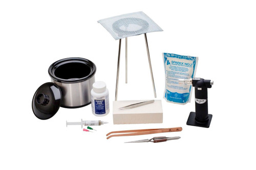 Basic Soldering Kit with Pickle Pot, and Set of Tools & Supplies Jewelry Making