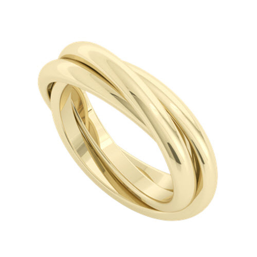Russian Wedding Ring Willow 9ct Yellow Gold