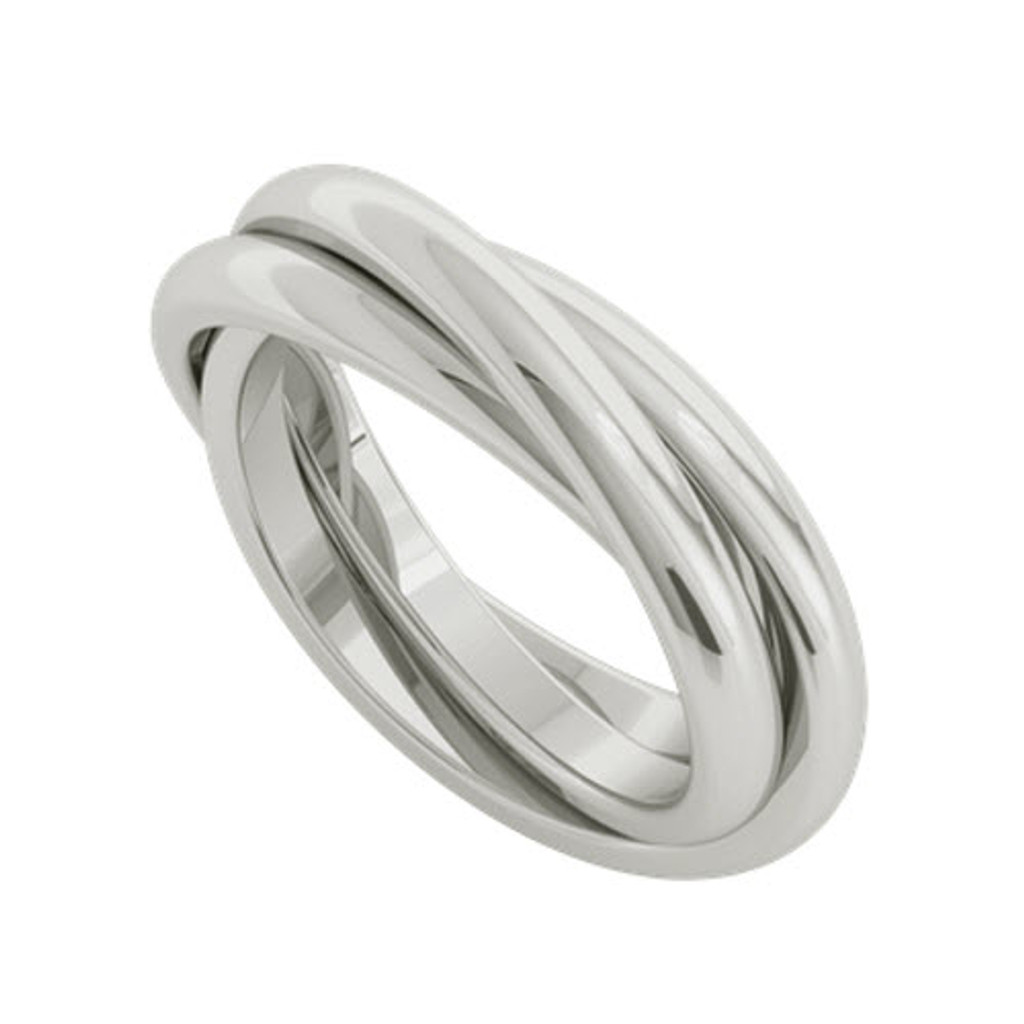 Stylerocks 9ct White Gold Russian Wedding Ring Willow
