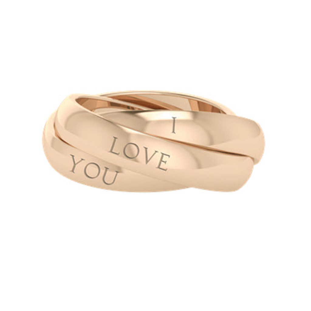 Russian Wedding Ring - Juno - Rose Gold