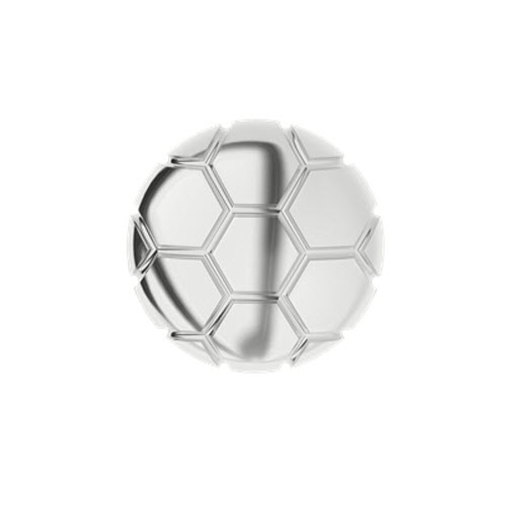 Soccer Ball Silver Cufflinks