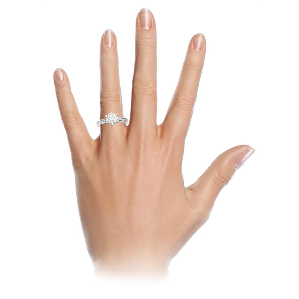 round-brilliant-1carat-diamond-6-claw-engagement-ring-channel-set-diamond-band-18-carat-white-gold-stylerocks-on-hand