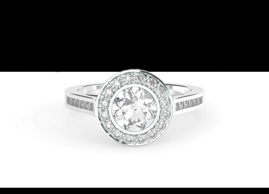 round-brilliant-cut-1carat-diamond-halo-diamond-band-14carat-white-gold-engagement-ring-stylerocks