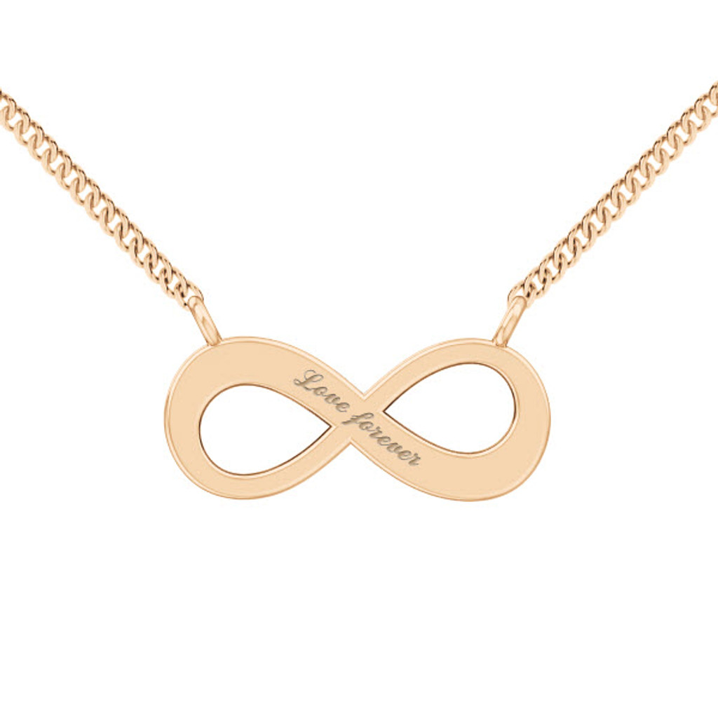 Infinity Necklace - 9ct Rose Gold