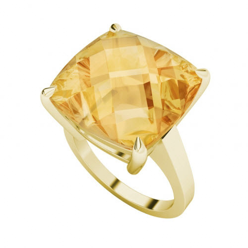Citrine 9ct Yellow Gold Ring
