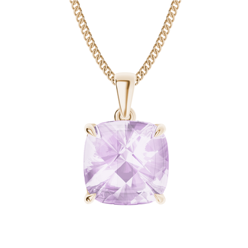 Pink Amethyst 9ct Rose Gold Necklace
