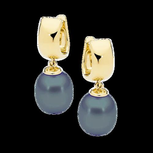 stylerocks-black-pearl-earrings-9ct-yellow-gold
