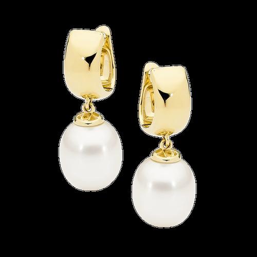 stylerocks-white-pearl-9ct-yellow-gold-huggy-earrings