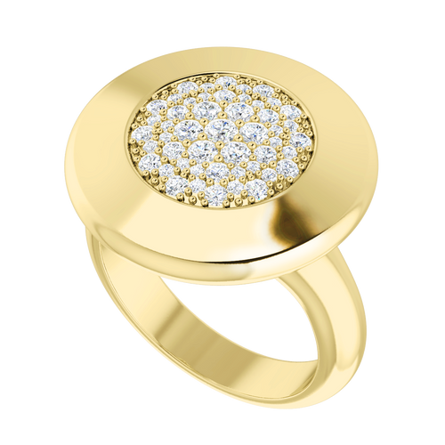 Diamond Raindrops Ring 9 Carat Yellow Gold