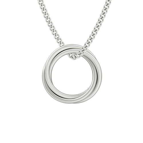 Russian Ring Necklace - the 'Zara' 18ct White Gold