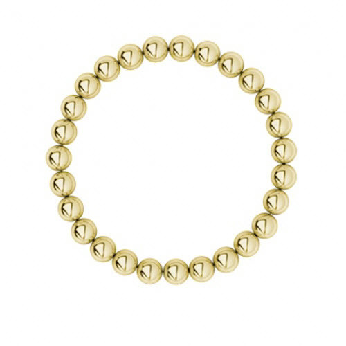 9ct Yellow Gold Bead Bracelet