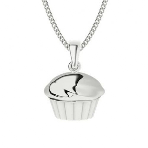 Sterling Silver Cupcake Necklace
