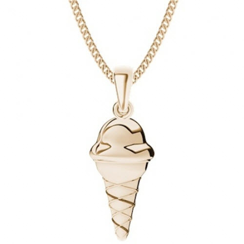 Rose Gold-Plate Ice Cream Necklace