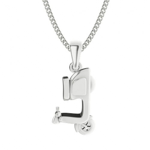 Sterling Silver Scooter Necklace