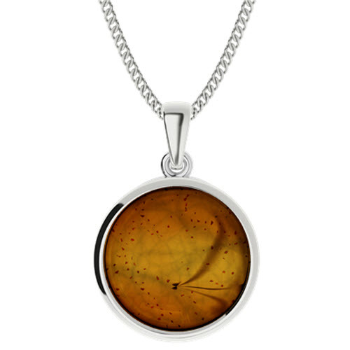 Amber Sterling Silver Pendant