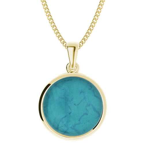 Turquoise Yellow Gold-Plate Pendant