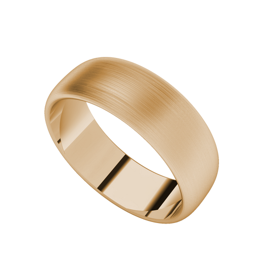 Brushed Ring with Round Profile (Rose Gold)