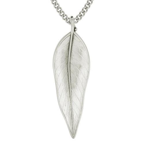 Terre-Et-Mer Leaf Necklace - Silver