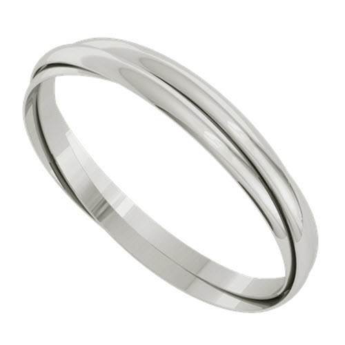 Russian Bangle - The 'Venus' Sterling Silver
