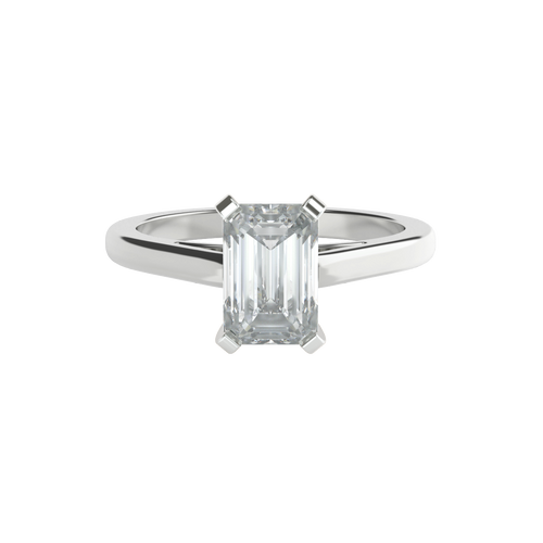 Emerald Cut Diamond Solitaire Engagement Ring - 'Chelsea'