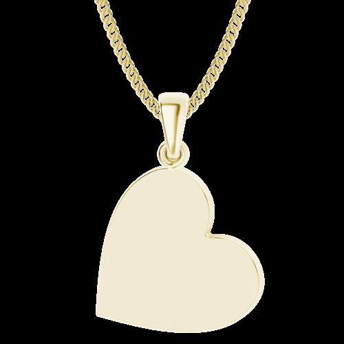 Heart Pendant 9ct Yellow Gold