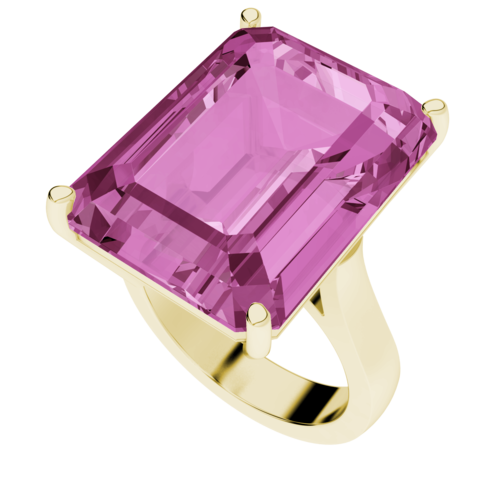 Pink Sapphire Cocktail Ring 9ct Yellow Gold