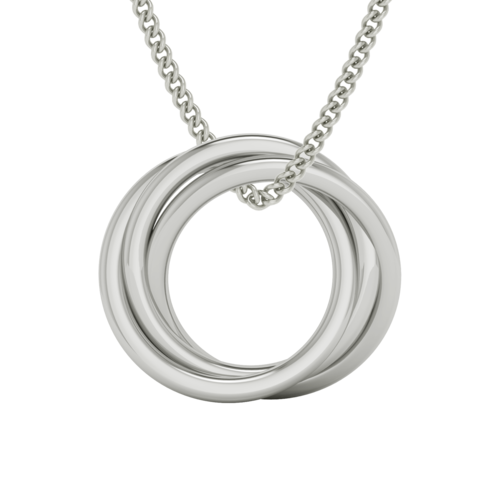 Russian Ring Necklace - The 'Alexandra' (White Gold)