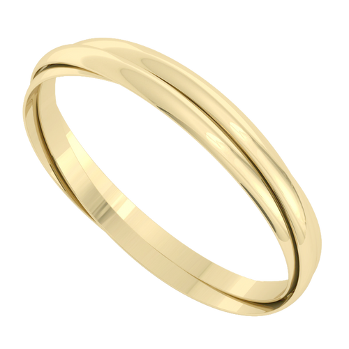 Russian Bangle - the 'Venus' 9ct Yellow Gold
