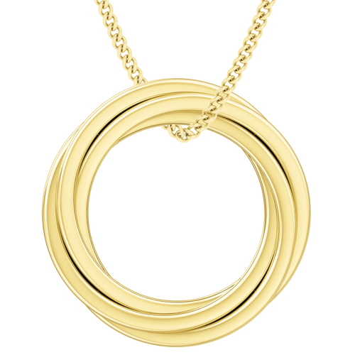 Russian Ring Necklace - the 'Catherine' 9ct Yellow Gold