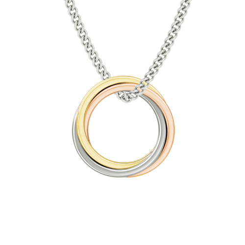 Russian Ring Necklace - the 'Zara' 9ct Multi-Gold