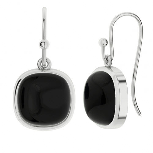Onyx Square Gemstone Earrings