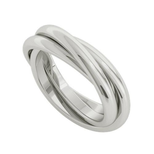 Russian Wedding Ring Willow Sterling Silver Stylerocks