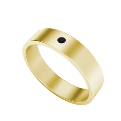 Black Diamond Wedding Ring Yellow Gold StyleRocks