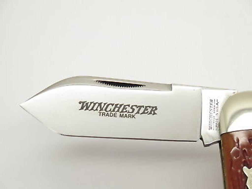 1995 WINCHESTER 29110 CLASSIC BONE ELEPHANT TOENAIL FOLDING KNIFE in CASE