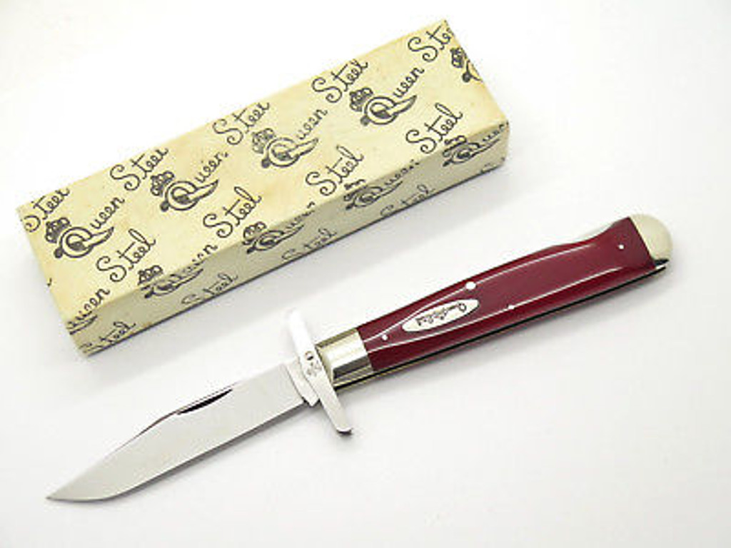 1995 QUEEN PCR4 CLASSIC CHEETAH STYLE SWING GUARD FOLDING KNIFE & CASE