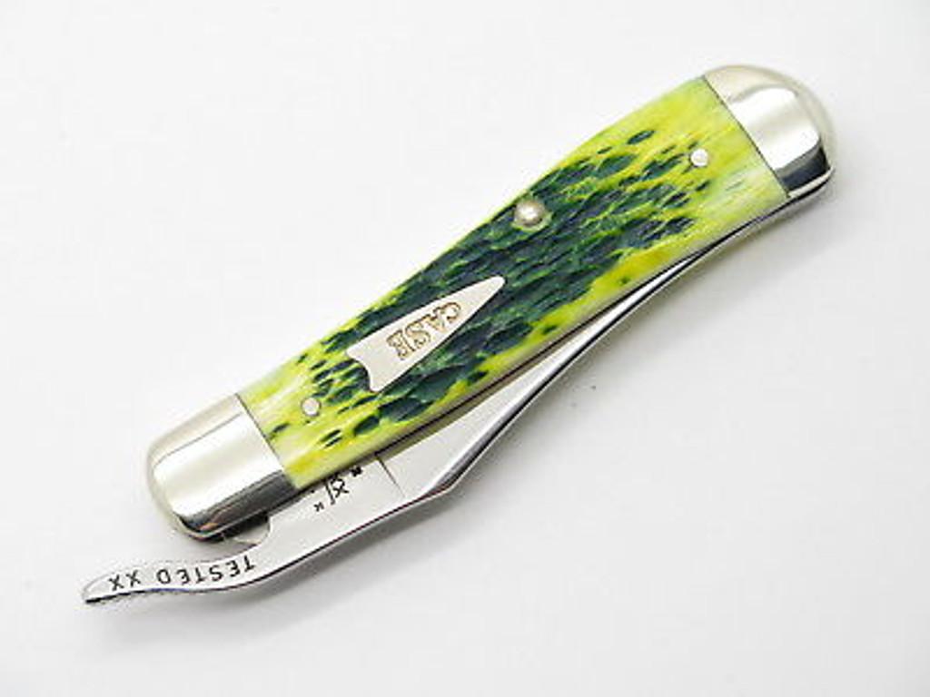 2002 LIMITED CASE XX 61953 LEMON LIME BONE RUSSLOCK FOLDING POCKET KNIFE