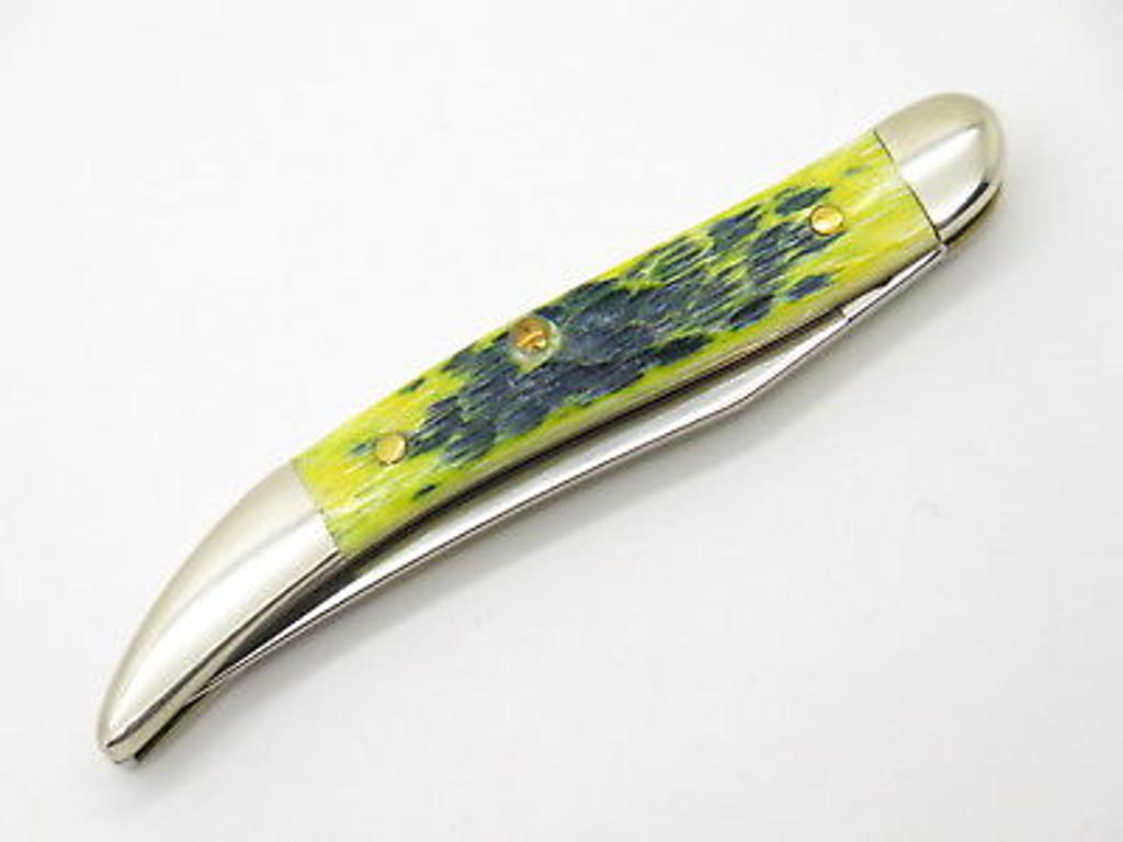 2002 LIMITED CASE XX 610096 LEMON LIME TOOTHPICK FOLDING POCKET KNIFE